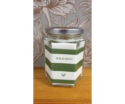 Wild Mint Hand Poured Soy Wax Candle in a jar