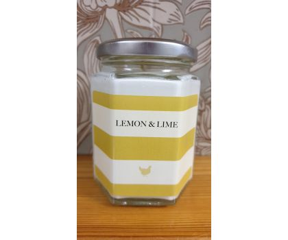 Lemon and Lime Hand Poured Soy Wax Candle in a jar