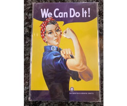 'We Can Do It' wartime tin sign