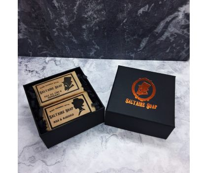 Small soap gift box with two soaps