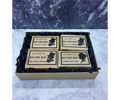 Soap Gift Box (kraft brown) with four soaps