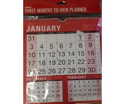 3 Month to View Planner