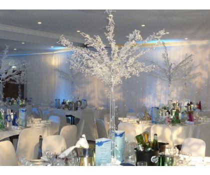 Crystal Trees with LED lighting