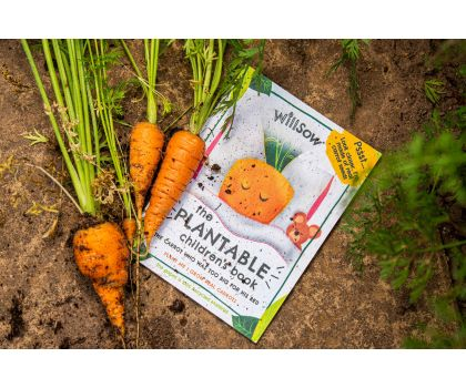 Willsow Plantable Children's Book - The Carrot Who Was Too Big For His Bed