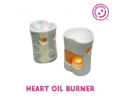 Paint your own Heart Oil Burner