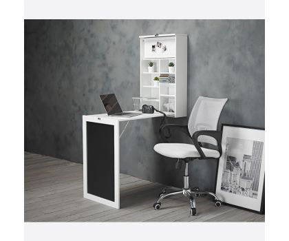 FOLDAWAY WALL DESK AND BREAKFAST TABLE - WHITE