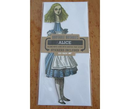 Alice in Wonderland Quotable Notable Card
