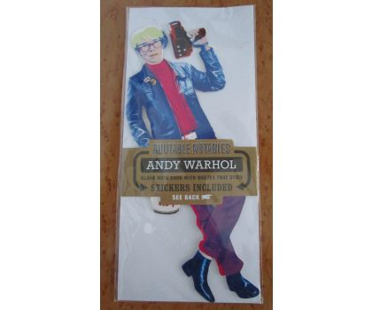 Andy Warhol Quotable Notable Card