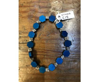 Etnika bracelet in midnight blue and silver