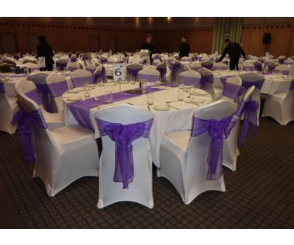 Chair Cover Hire - prices per cover between £2.75 and £4.00