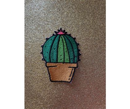 Cactus iron-on patch or shoe lace patch