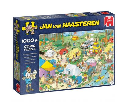 Camping in The Forest, 1000 Piece Jigsaw Puzzle