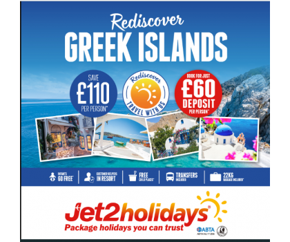 Rediscover Greece with Jet2 Holidays