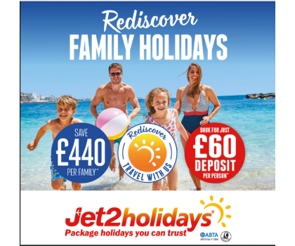 Rediscover Family Holidays with Jet2 Holidays