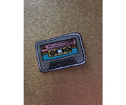 Cassette Tape iron-on patch or shoe lace patch