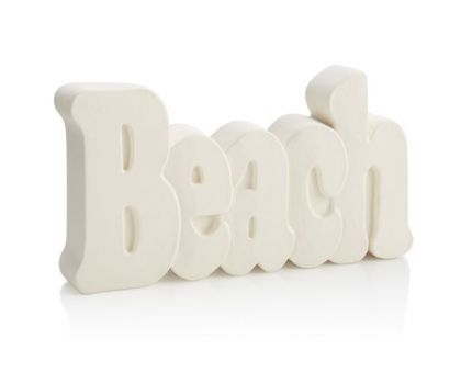 Paint your own Beach Word Plaque