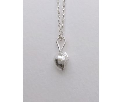 Sterling silver pendant necklace: cherry stone