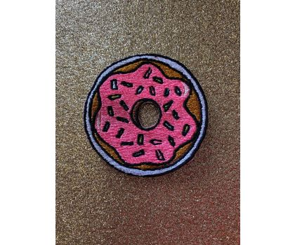 Donut iron-on patch or shoe lace patch