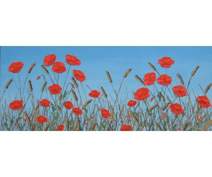 'Wheatfield poppies 1' original oil painting by David Starley