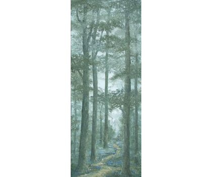 'Bluebells on a Misty Morning'. Original oil painting by David Starley
