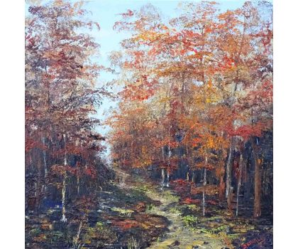 'Autumn Song'. Original oil painting by David Starley