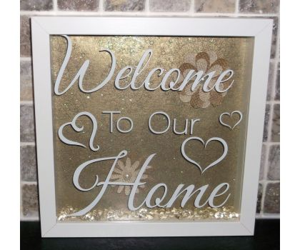 Handmade Welcome To Our Home Box Frame