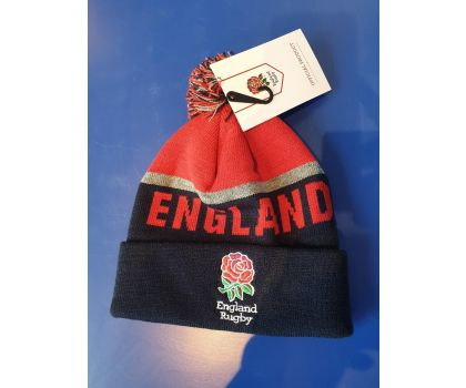 England Rugby Bobble Beanie Hat