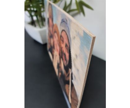 Personalised Wooden Photo Print A4