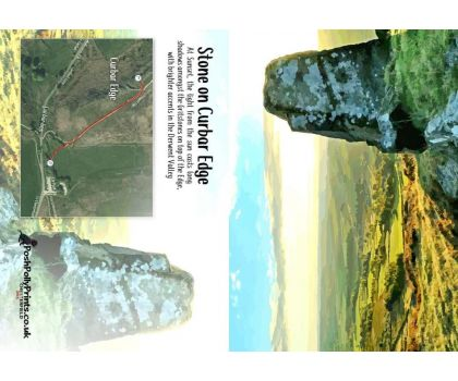 Stone on Curbar Edge with Map A6 Greeting Card