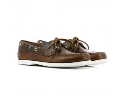 GH Bass JETTY II BOATER - DARK BROWN LEATHER