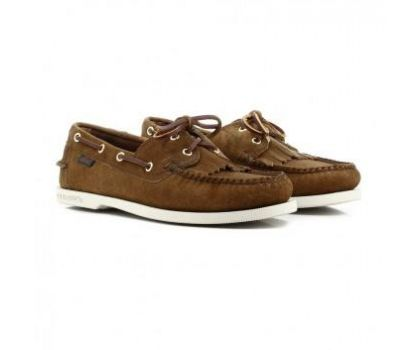 GH Bass JETTY II BOATER - BROWN SUEDE