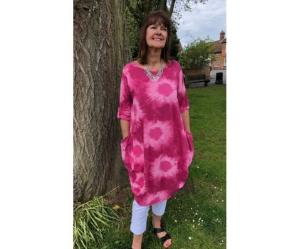 Made In Italy -  Tunic Dress - Pink
