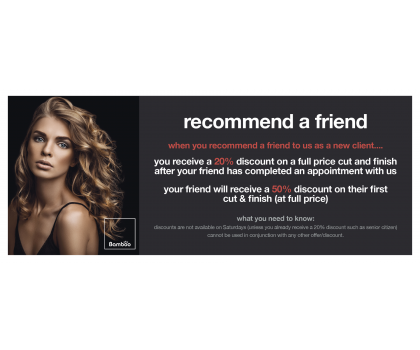 Recommend a Friend for Cut and Finish (full price from)
