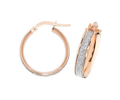 9ct rose gold Creoles