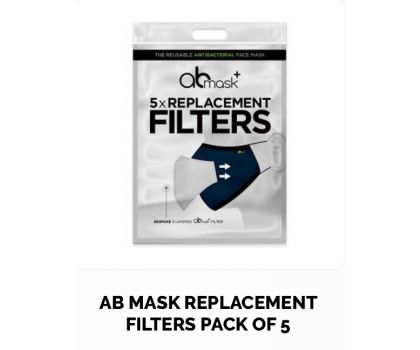 AB MASK REPLACEMENT FILTERS PACK OF 5