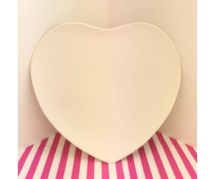 Paint your own Large Heart Plate