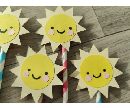 Sunshine Cupcake Toppers - Large