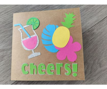 Tropical Personalised Birthday Card