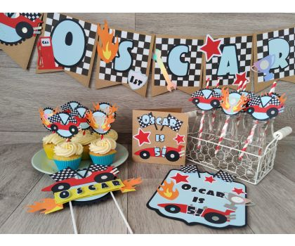 Racecar Personalised Party Set - small