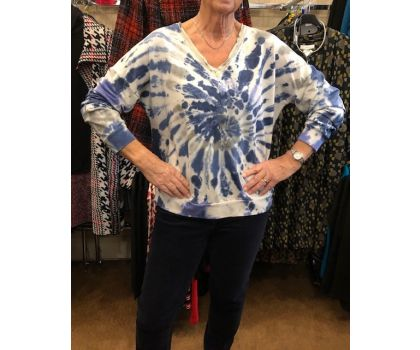 Made In Italy - V Neck Jersey Top