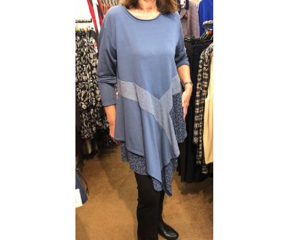 Made In Italy - V Front Tunic Top