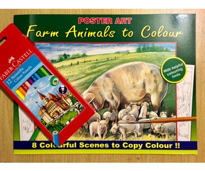 Farm Animals To Colour Colouring Pack