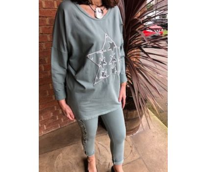 Made In Italy - Sage Green 2 Piece Set