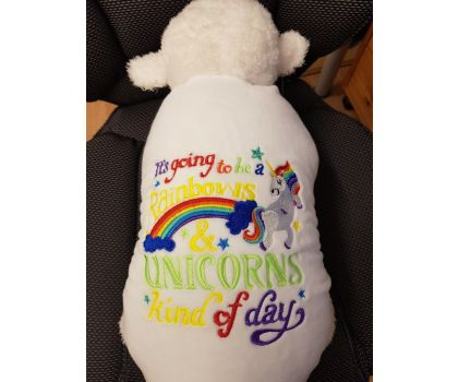 Lamb Cushion - Pillow - Personalised With Your Own Embroidered Message, Name or Quote