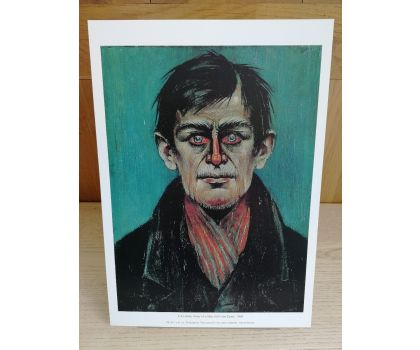 Head Of A Man With Red Eyes, L.S. Lowry (Fine Art Print) (Unframed)