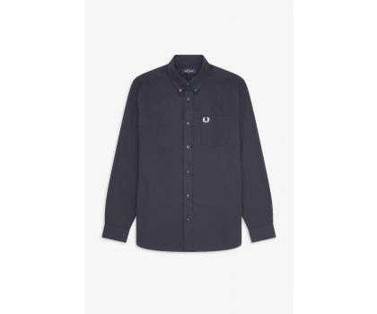 Fred Perry Oxford Long Sleeved shirt - Navy M8501