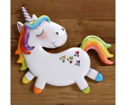 Paint your own Unicorn Plaque