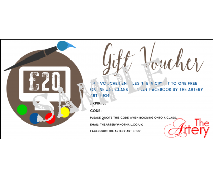 Gift Vouchers for our online art classes and ShopAppy shop