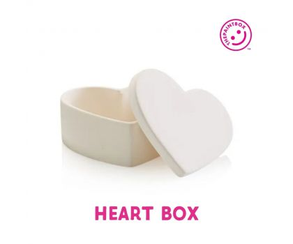 Paint your own Heart Trinket Box
