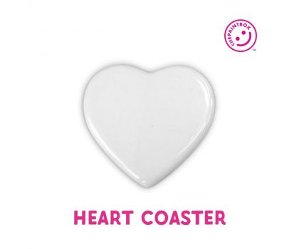 Paint your own Heart Coaster